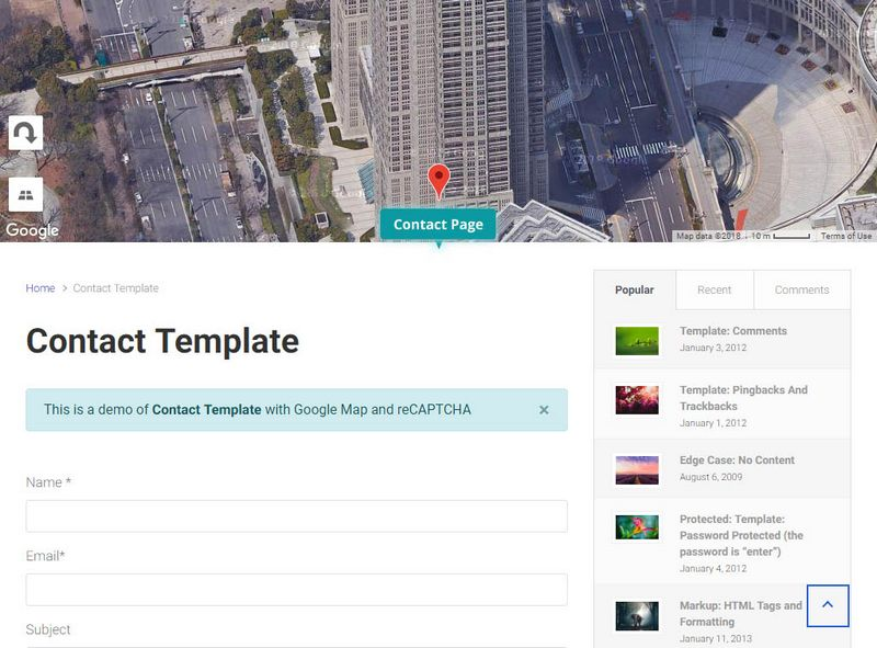 Contact Page Template – Theme4Press