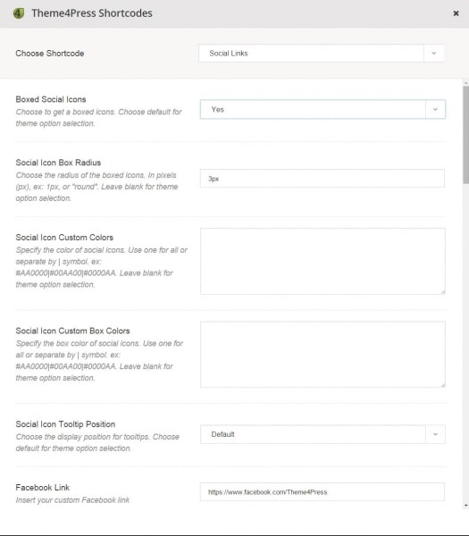 social-links-settings