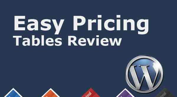 Easy Pricing Tables Review