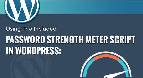 Using The Included Password Strength Meter Script In WordPress