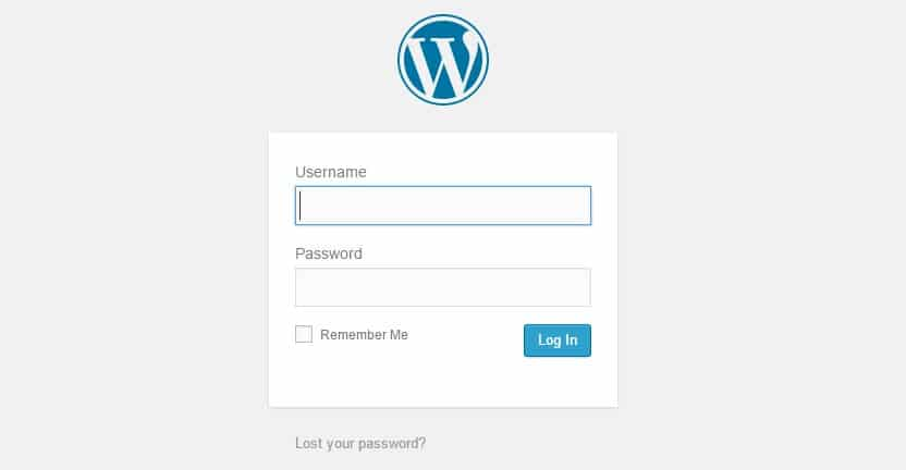 Login into WordPress
