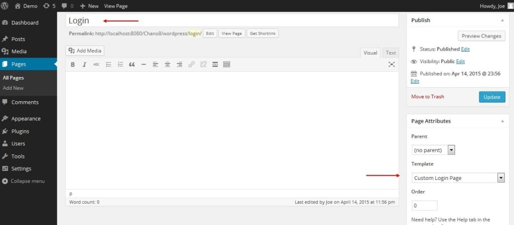 theme4press creating custom wordpress login page with brand identity. Black Bedroom Furniture Sets. Home Design Ideas