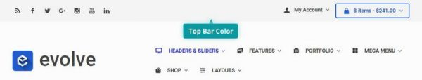 Top Bar Color