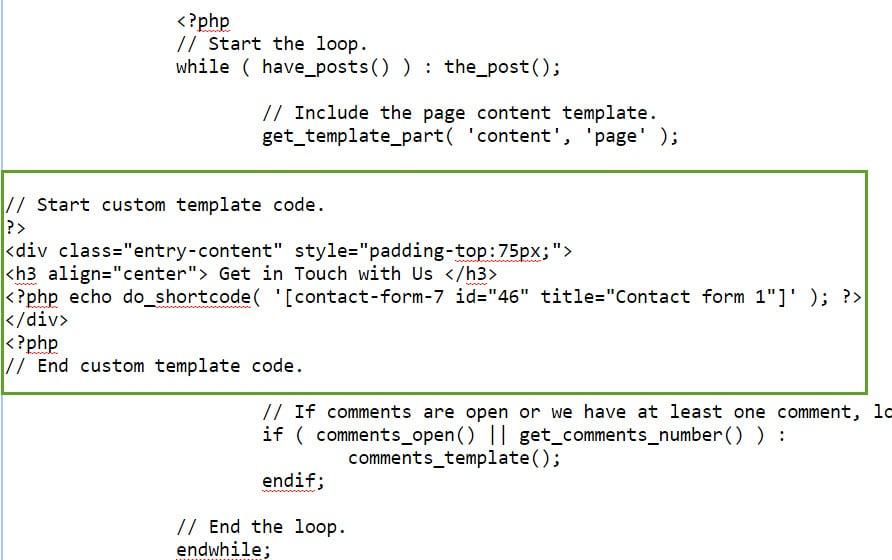 custom-template-code