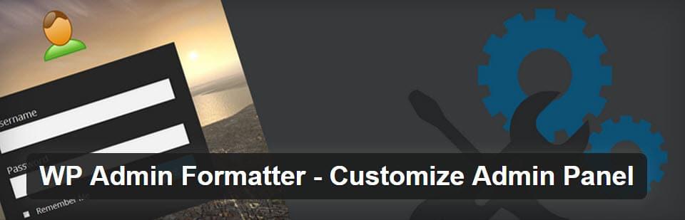 wp-admin-formater
