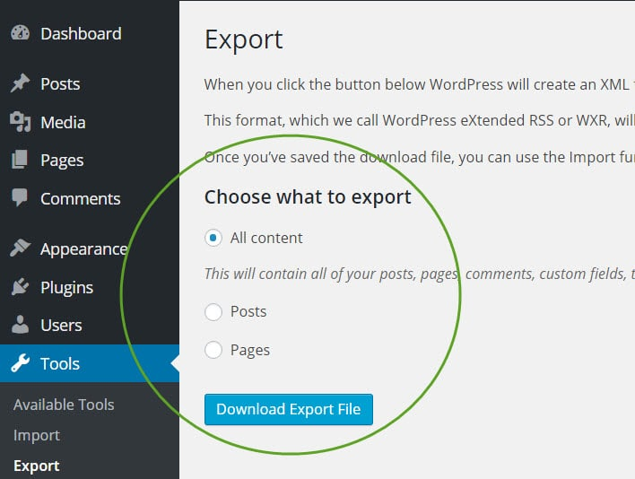 export-page