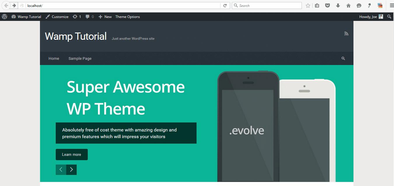 Installing WordPress on Localhost – WampServer