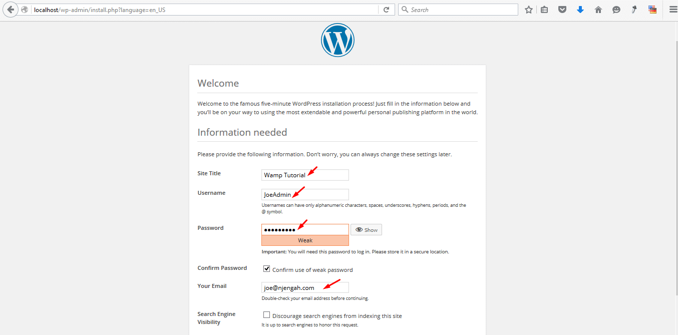Installing WordPress on Localhost – WampServer