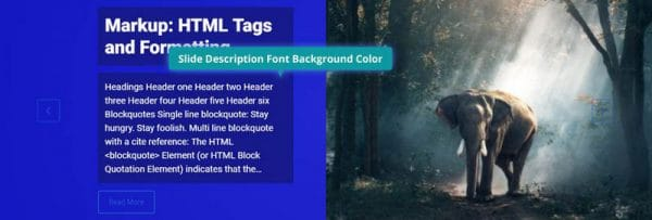 Slide Description Font Background Color