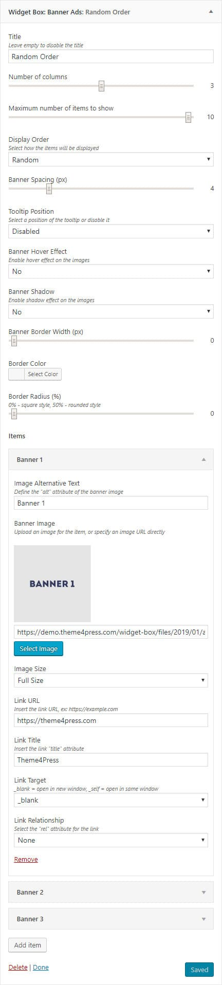 Banner Ads Settings
