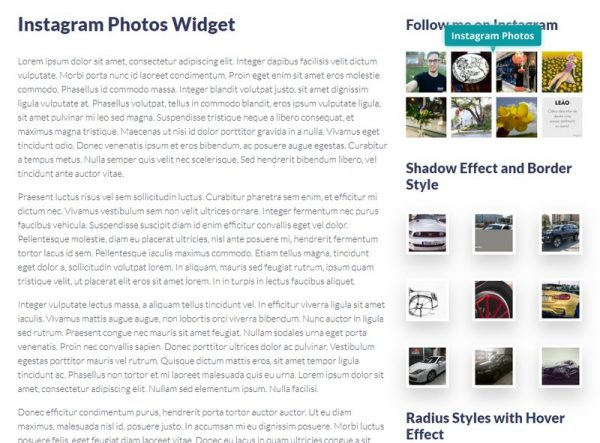 Instagram Photos Widget