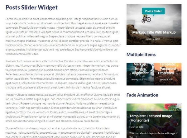 Posts Slider Widget
