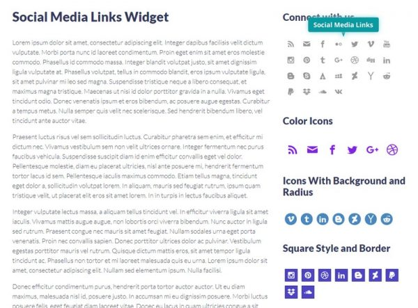 Social Media Links Widget